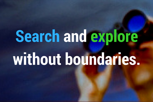 Search and Explore without Boundaries